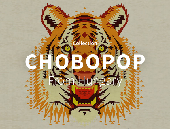 La collection wild animal, tigre, tiger de Chobopop est disponible sur l'artshop Wooop.fr