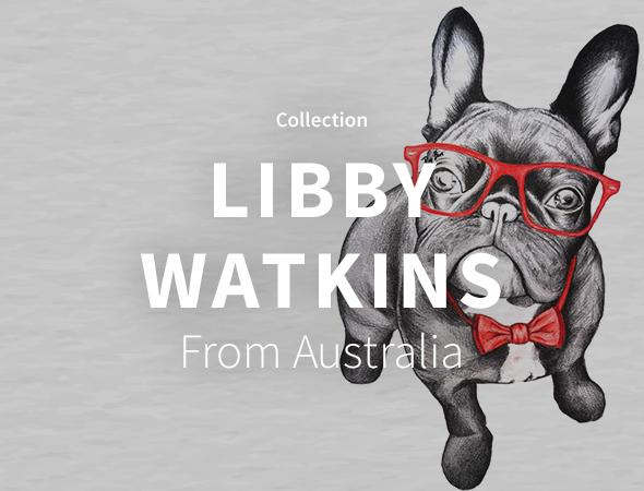 Une collection hipster animal et autres dans les produits de Libby Watkins.