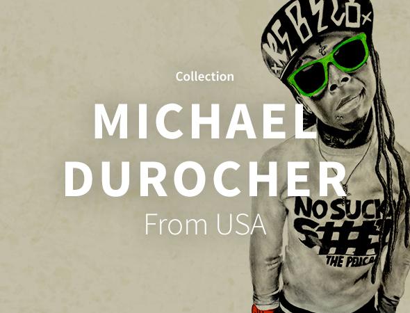 Les rappeurs US du moment Wiz Khalifa, Lil Wayne et Kanye West sont présents sur la collection Michael Durocher.