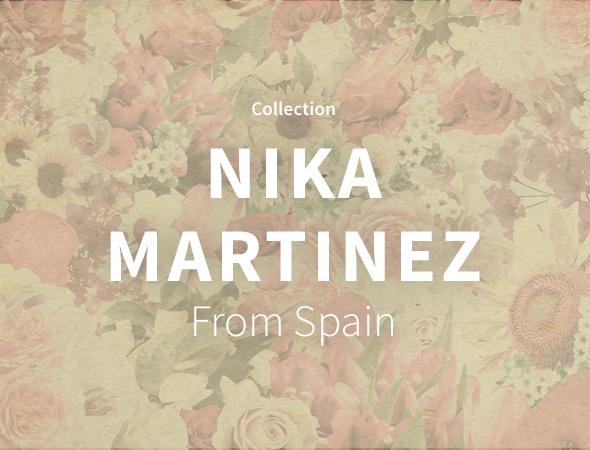 Des designs avec beaucoup de motifs variés, aztec ou plus traditionnel, des designs multicolores chez Nika Martinez