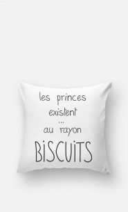Coussin Les Princes Existent au Rayon Biscuits