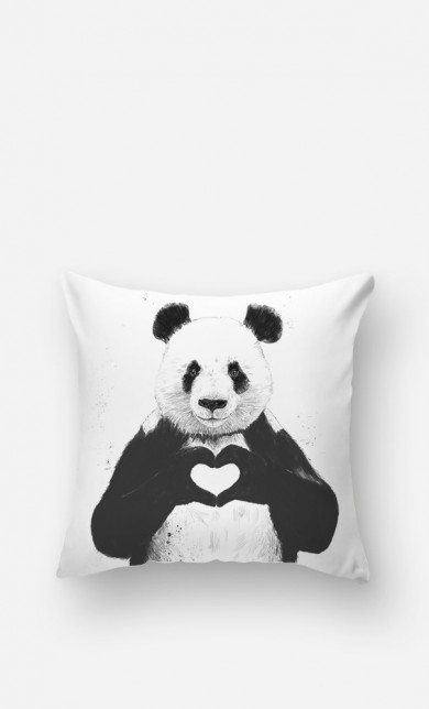 Coussin Love Panda