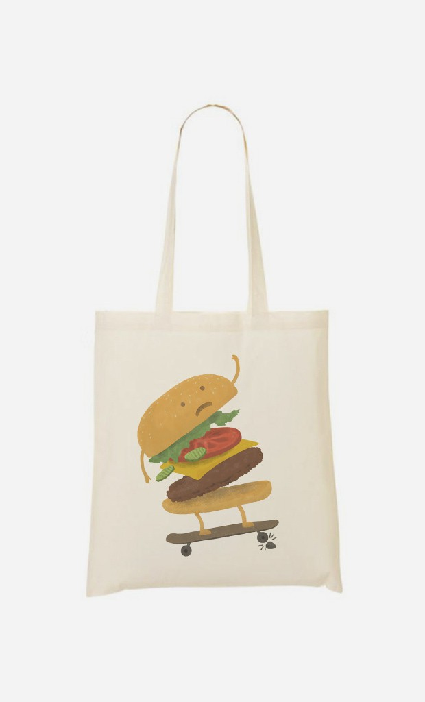 Tote Bag Burger Wipeout
