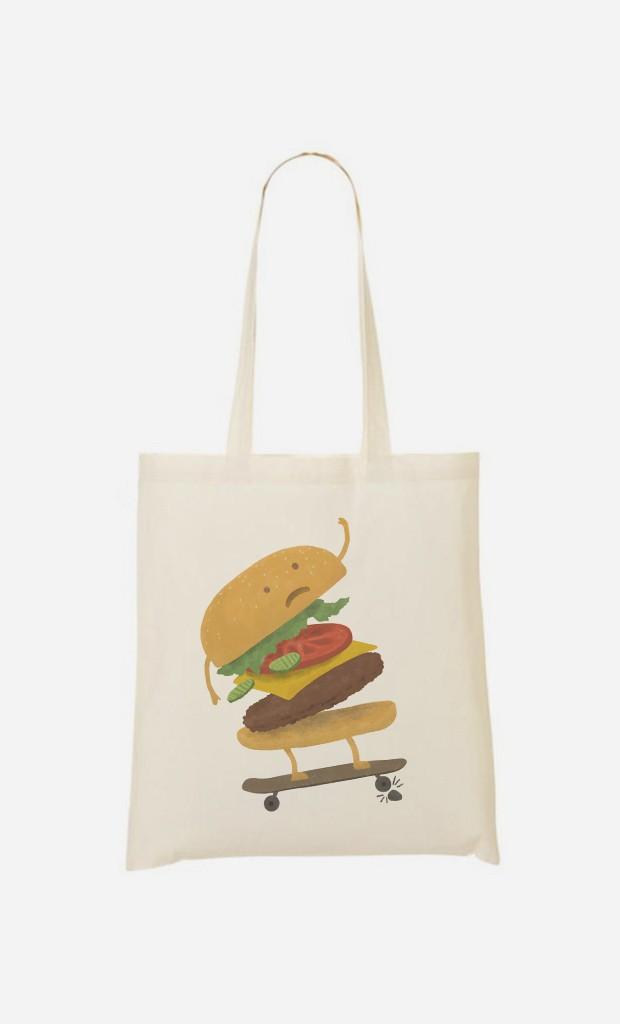 Tote Bag Burger Wipeout