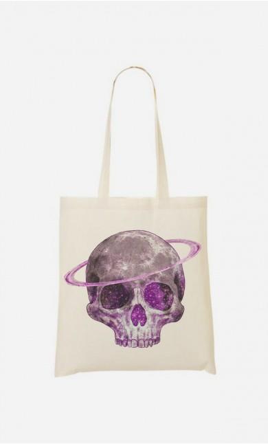 Tote Bag Cosmic Skull Purple