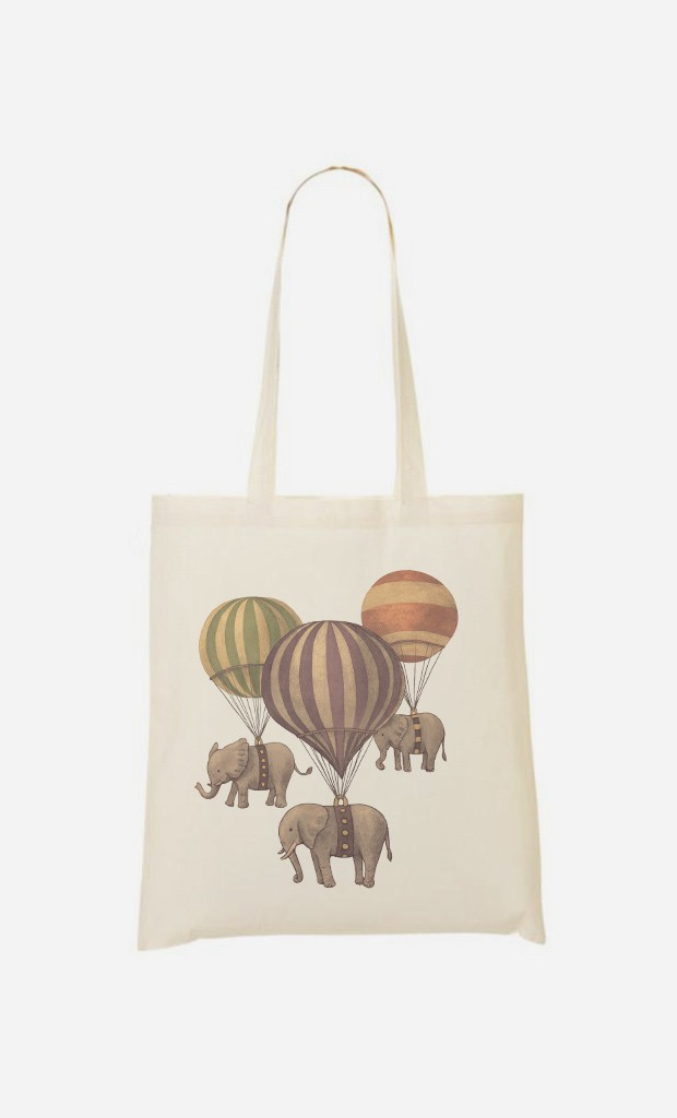 Tote Bag Flight Of Elephants