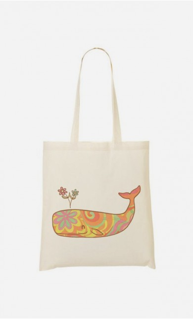 Tote Bag Hippy Whale