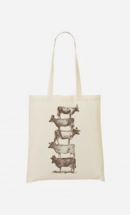 Tote Bag Cow Cow Nuts