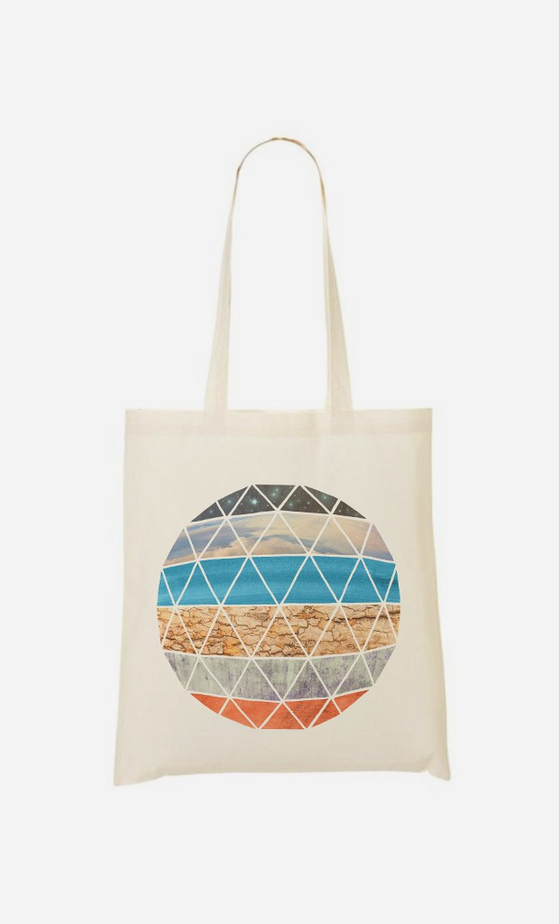 Tote Bag Natural Geodesic