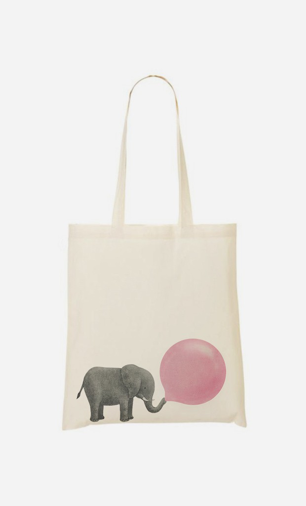 Tote Bag Plage Jumbo Bubble Gum