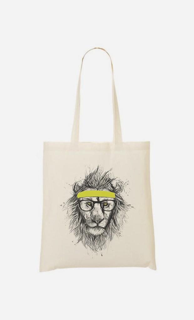 Tote Bag Hipster Lion