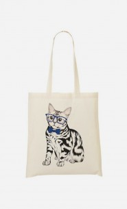 Tote Bag Hipster Cat