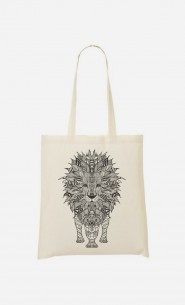 Tote Bag Lion Black