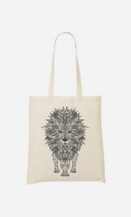 Tote Bag Lion Black