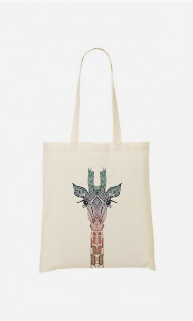 Tote Bag Coloré Giraffe
