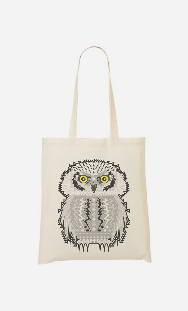 Tote Bag Snow Owl