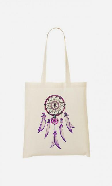 Tote Bag Dreamcatcher Purple