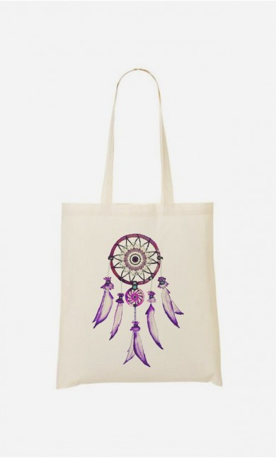 Tote Bag Dreamcatcher Purple