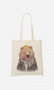 Tote Bag Brown Bear