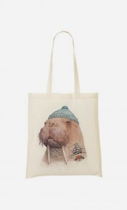 Tote Bag Tattooed Walrus