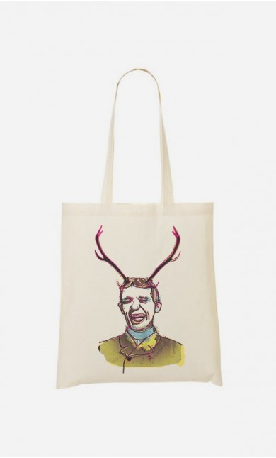 Tote Bag Deer Man