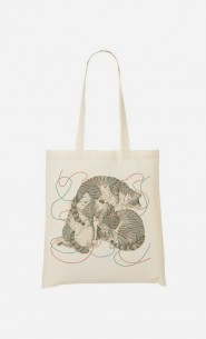 Tote Bag Sleeping Cats