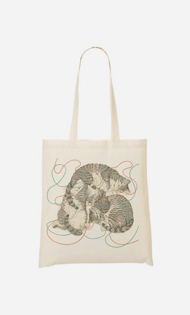 Tote Bag Sleeping Cats