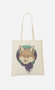 Tote Bag Winter Fox