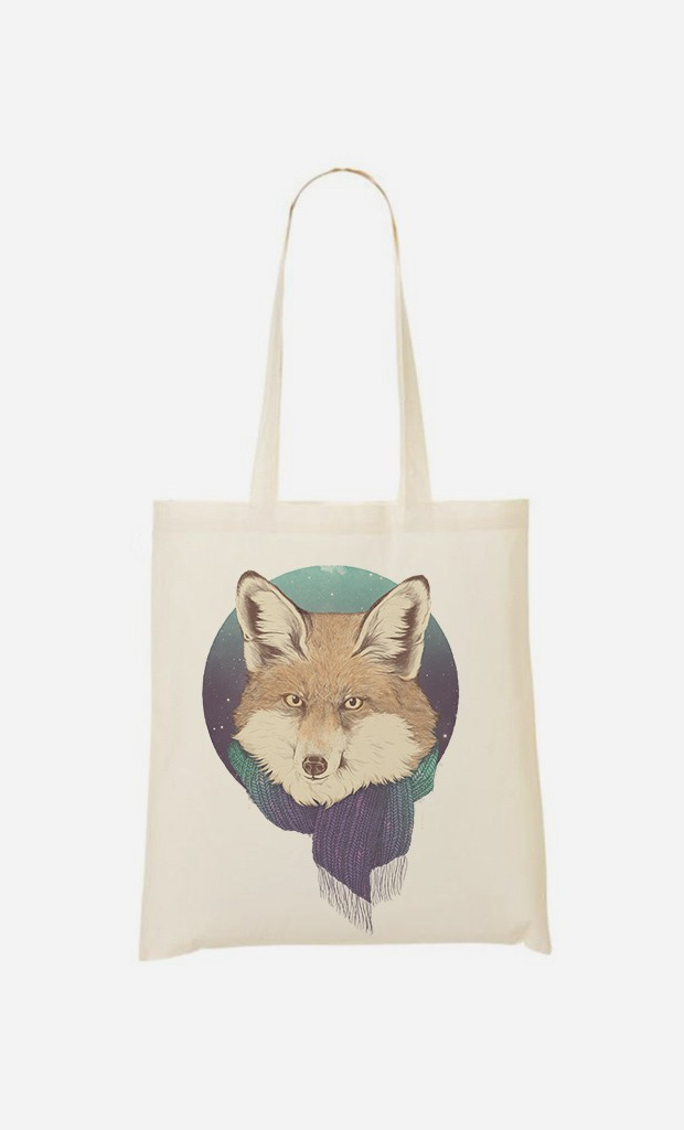 Tote Bag Winter Fox