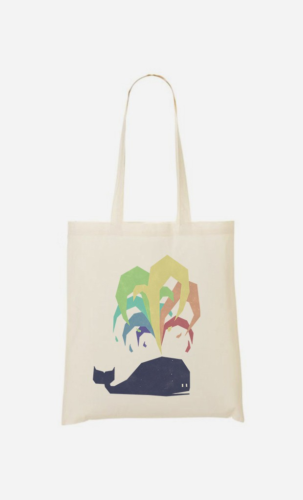 Tote Bag Rainbow Whale