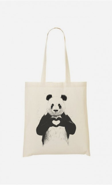 "Tote Bag Léger ""Love Panda"""