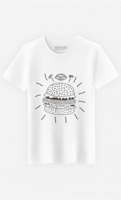 T-Shirt Homme Burger Punk