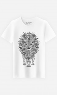 T-Shirt Homme Lion Black