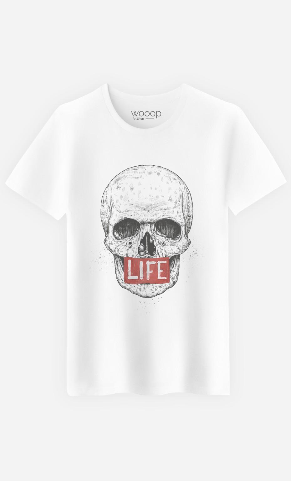 T-Shirt Homme Skull Life