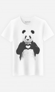 T-Shirt Homme Cute Love Panda
