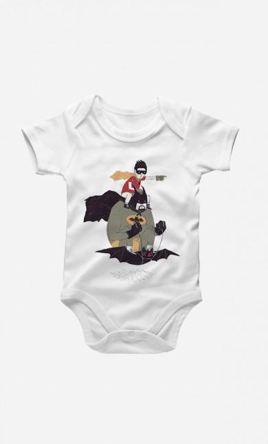 Batman & Robin Baby Grow