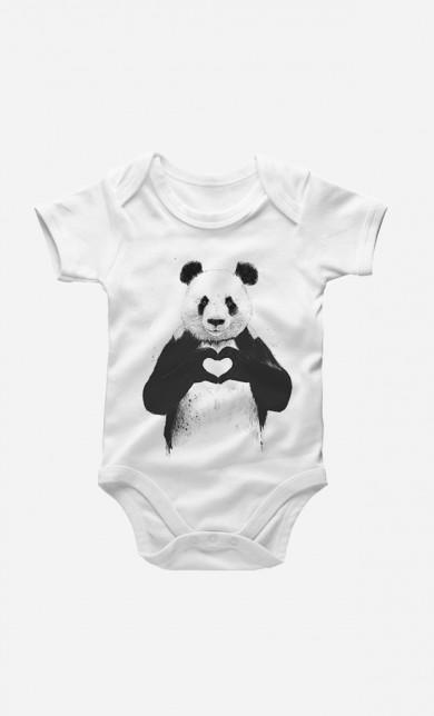 Love Panda Baby Grow