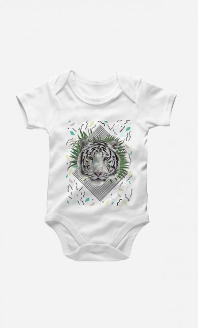 White Tiger Baby Grow