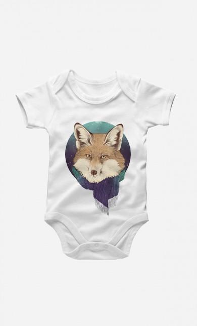 Winter Fox Baby Grow