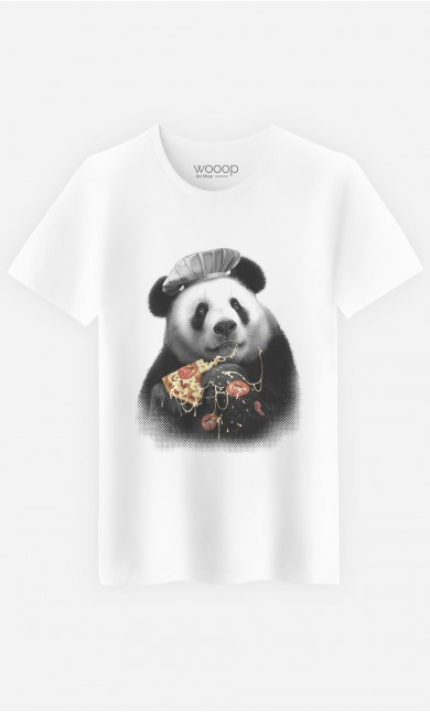 T-Shirt Homme Panda Pizza