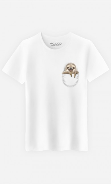 T-Shirt Homme Pocket Sloth