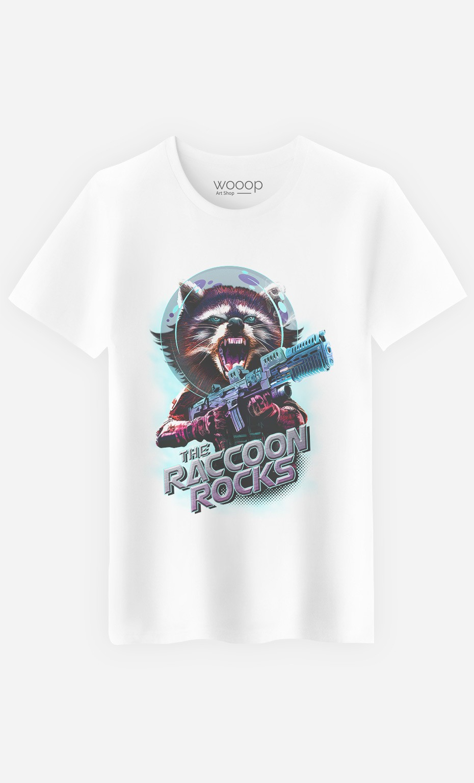 T-Shirt Homme Racoon Rocks