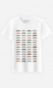 T-Shirt Homme Moustache Mania