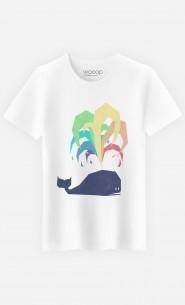 T-Shirt Rainbow Whale