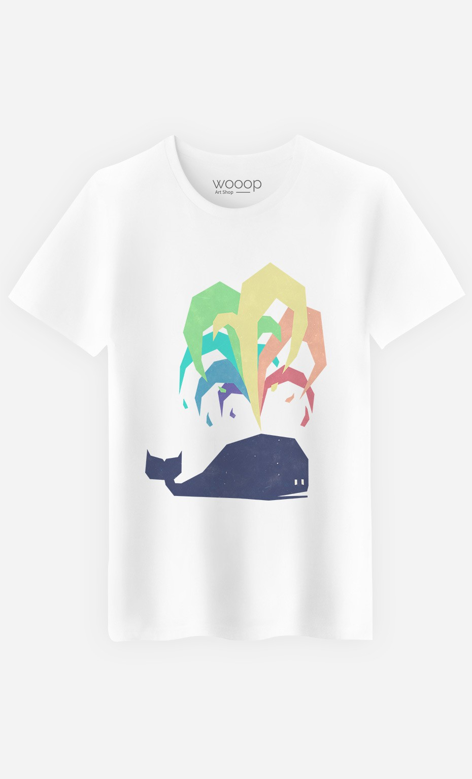 T-Shirt Homme Rainbow Whale