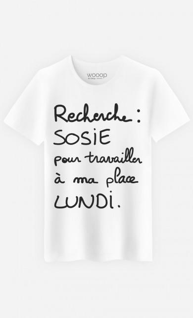 """T Shirt Geek """"Recherche Sosie"""""""