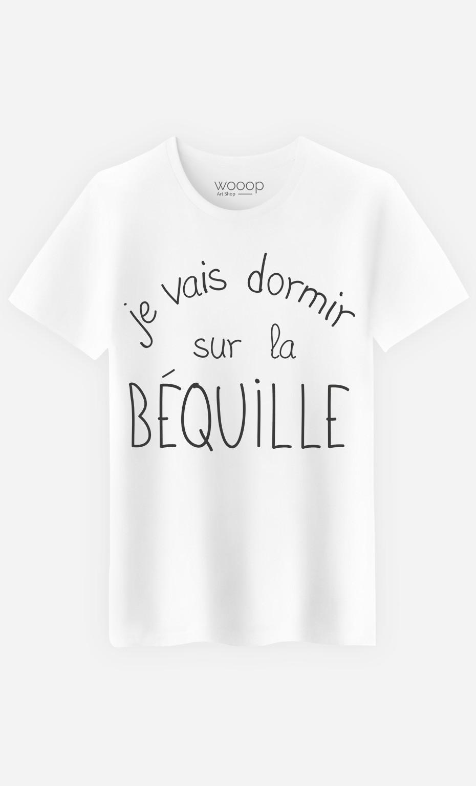 T-Shirt Homme Sur La Béquille