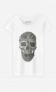 T-Shirt Femme Lace Skull