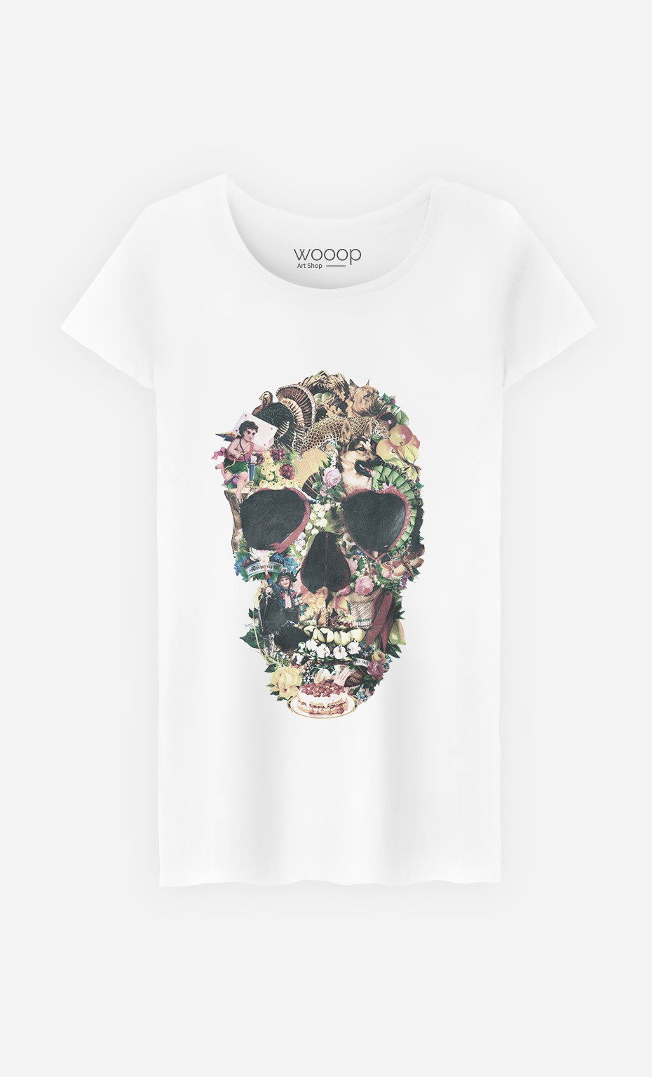 T-Shirt Femme Vintage Skull