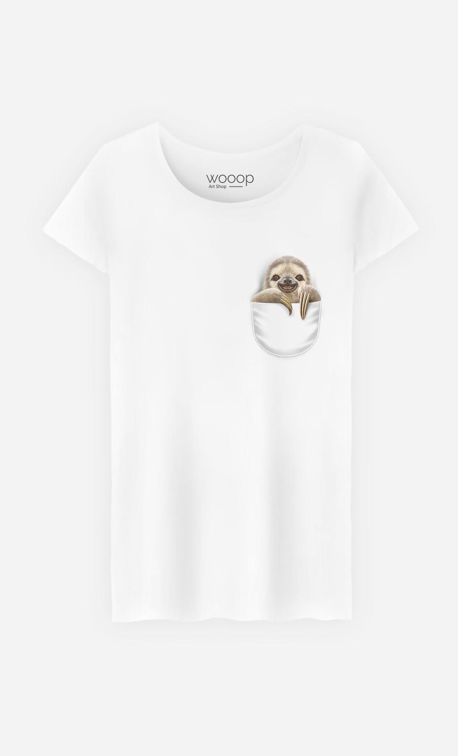 T-Shirt Femme Pocket Sloth